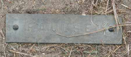 PAULSEN, UNKNOWN #1 - Boyd County, Nebraska | UNKNOWN #1 PAULSEN - Nebraska Gravestone Photos