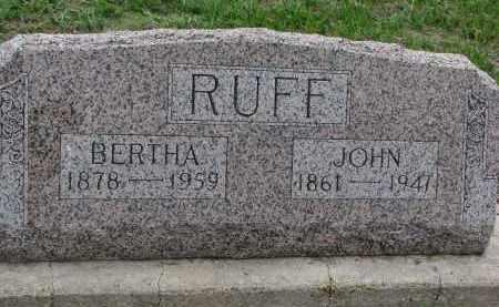 RUFF, JOHN - Boyd County, Nebraska   JOHN RUFF - Nebraska Gravestone Photos