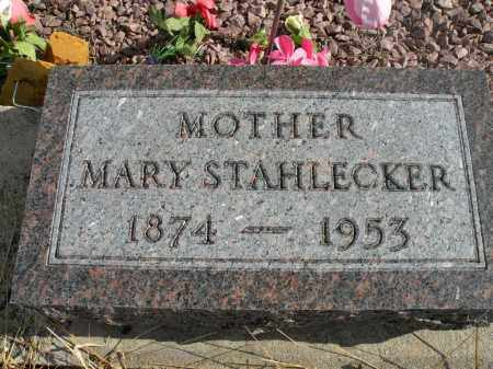 STAHLECKER, MARY - Boyd County, Nebraska | MARY STAHLECKER - Nebraska Gravestone Photos