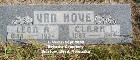 VAN HOVE, CLARA A. - Boyd County, Nebraska | CLARA A. VAN HOVE - Nebraska Gravestone Photos
