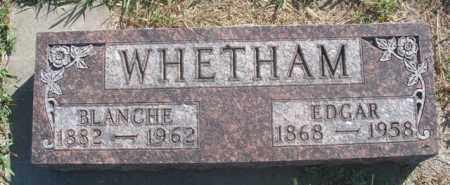 WHETHAM, EDGAR - Boyd County, Nebraska | EDGAR WHETHAM - Nebraska Gravestone Photos