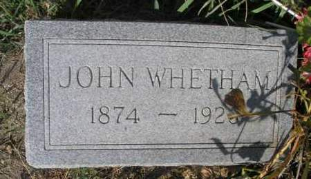 WHETHAM, JOHN - Boyd County, Nebraska | JOHN WHETHAM - Nebraska Gravestone Photos