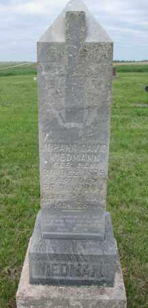WIEDMANN, JOHANN DAVID - Boyd County, Nebraska | JOHANN DAVID WIEDMANN - Nebraska Gravestone Photos