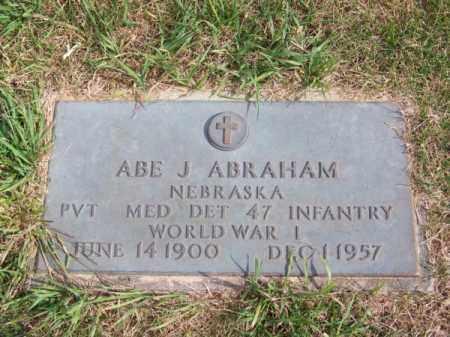 ABRAHAM, ABE J. - Brown County, Nebraska   ABE J. ABRAHAM - Nebraska Gravestone Photos