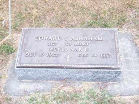 ABRAHAM, EDWARD J. - Brown County, Nebraska | EDWARD J. ABRAHAM - Nebraska Gravestone Photos