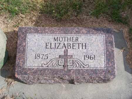 ABRAHAM, ELIZABETH - Brown County, Nebraska   ELIZABETH ABRAHAM - Nebraska Gravestone Photos