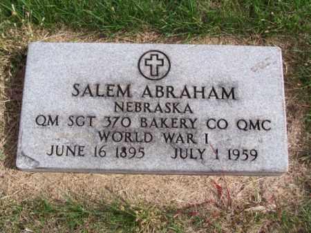 ABRAHAM, SALEM - Brown County, Nebraska | SALEM ABRAHAM - Nebraska Gravestone Photos