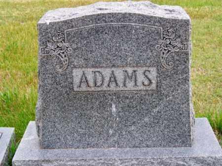 ADAMS, FAMILY - Brown County, Nebraska   FAMILY ADAMS - Nebraska Gravestone Photos