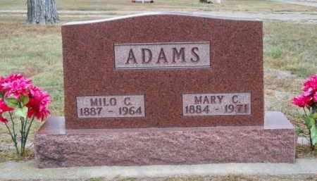 ADAMS, MILO C. - Brown County, Nebraska | MILO C. ADAMS - Nebraska Gravestone Photos
