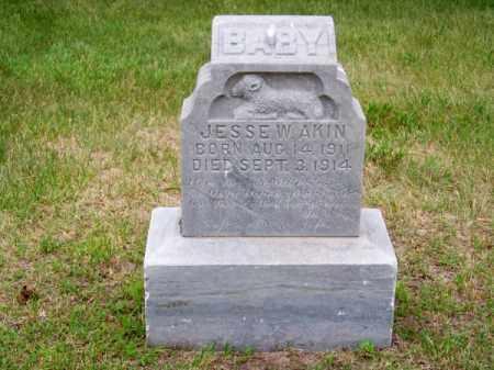 AKIN, JESSE W. - Brown County, Nebraska | JESSE W. AKIN - Nebraska Gravestone Photos