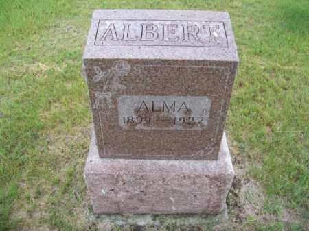 ALBERT, ALMA - Brown County, Nebraska | ALMA ALBERT - Nebraska Gravestone Photos