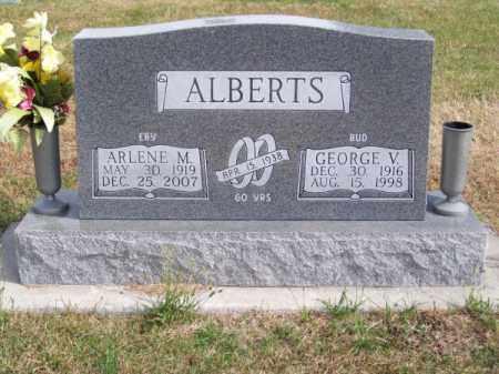 "ALBERTS, GEORGE V. ""BUD"" - Brown County, Nebraska | GEORGE V. ""BUD"" ALBERTS - Nebraska Gravestone Photos"