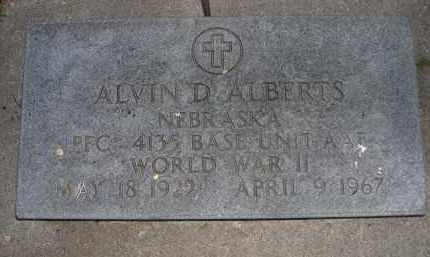 ALBERTS, ALVIN D, - Brown County, Nebraska | ALVIN D, ALBERTS - Nebraska Gravestone Photos
