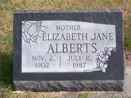 ALBERTS, ELIZABETH JANE - Brown County, Nebraska   ELIZABETH JANE ALBERTS - Nebraska Gravestone Photos