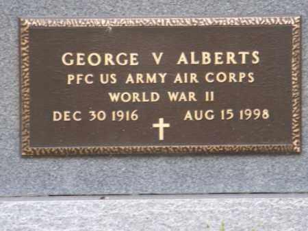 ALBERTS, GEORGE V. - Brown County, Nebraska | GEORGE V. ALBERTS - Nebraska Gravestone Photos