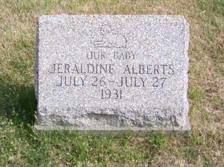 ALBERTS, JERALDINE - Brown County, Nebraska | JERALDINE ALBERTS - Nebraska Gravestone Photos