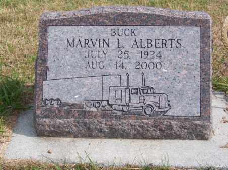 "ALBERTS, MARVIN L. ""BUCK"" - Brown County, Nebraska | MARVIN L. ""BUCK"" ALBERTS - Nebraska Gravestone Photos"