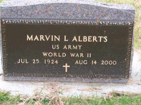 ALBERTS, MARVIN L. - Brown County, Nebraska | MARVIN L. ALBERTS - Nebraska Gravestone Photos