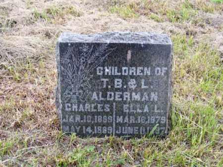 ALDERMAN, CHARLES - Brown County, Nebraska | CHARLES ALDERMAN - Nebraska Gravestone Photos