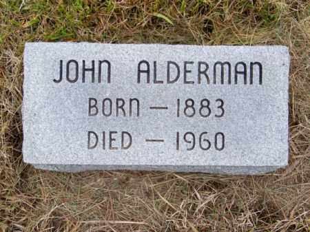 ALDERMAN, JOHN - Brown County, Nebraska | JOHN ALDERMAN - Nebraska Gravestone Photos