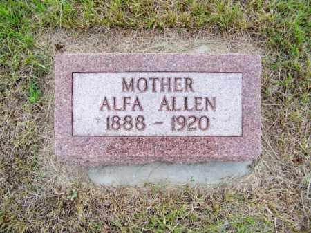 ALLEN, ALFA - Brown County, Nebraska | ALFA ALLEN - Nebraska Gravestone Photos