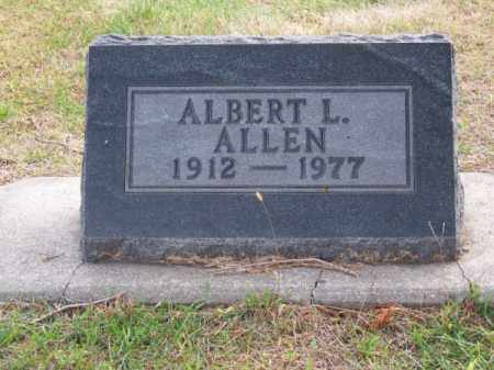 ALLEN, ALBERT L. - Brown County, Nebraska | ALBERT L. ALLEN - Nebraska Gravestone Photos