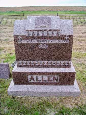 ALLEN, FAMILY - Brown County, Nebraska   FAMILY ALLEN - Nebraska Gravestone Photos
