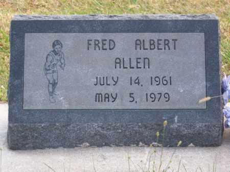 ALLEN, FRED ALBERT - Brown County, Nebraska | FRED ALBERT ALLEN - Nebraska Gravestone Photos