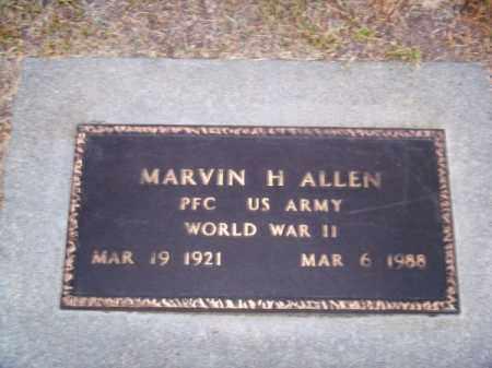 ALLEN, MARVIN H. - Brown County, Nebraska   MARVIN H. ALLEN - Nebraska Gravestone Photos
