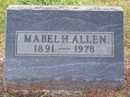 ALLEN, MABEL H. - Brown County, Nebraska | MABEL H. ALLEN - Nebraska Gravestone Photos