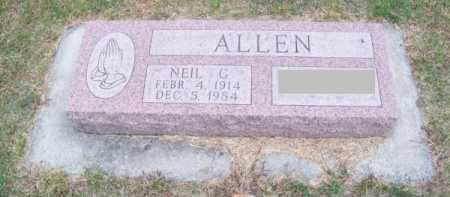 ALLEN, NEIL G. - Brown County, Nebraska   NEIL G. ALLEN - Nebraska Gravestone Photos