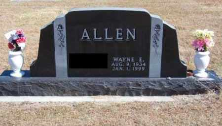 ALLEN, WAYNE E. - Brown County, Nebraska   WAYNE E. ALLEN - Nebraska Gravestone Photos