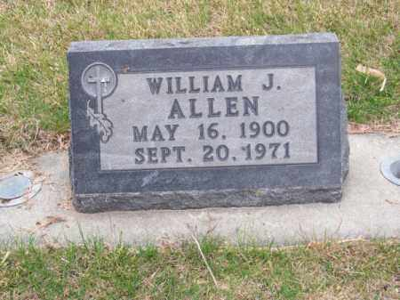 ALLEN, WILLIAM J. - Brown County, Nebraska | WILLIAM J. ALLEN - Nebraska Gravestone Photos