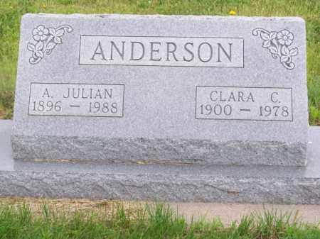 ANDERSON, A. JULIAN - Brown County, Nebraska | A. JULIAN ANDERSON - Nebraska Gravestone Photos