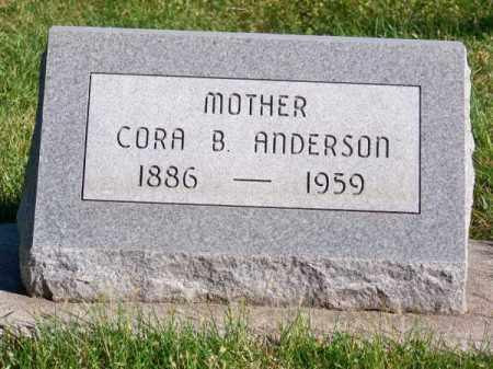 ANDERSON, CORA B - Brown County, Nebraska | CORA B ANDERSON - Nebraska Gravestone Photos