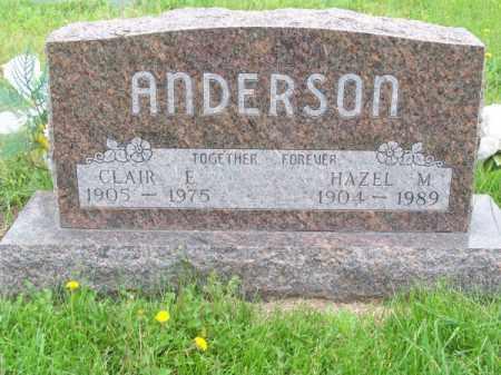 ANDERSON, CLAIR E. - Brown County, Nebraska | CLAIR E. ANDERSON - Nebraska Gravestone Photos