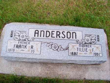 ANDERSON, TILLIE F. - Brown County, Nebraska | TILLIE F. ANDERSON - Nebraska Gravestone Photos