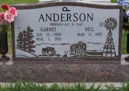 ANDERSON, GARNET - Brown County, Nebraska | GARNET ANDERSON - Nebraska Gravestone Photos