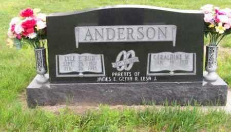 "ANDERSON, LYLE E. ""BUD"" - Brown County, Nebraska   LYLE E. ""BUD"" ANDERSON - Nebraska Gravestone Photos"