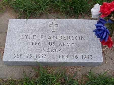 ANDERSON, LYLE E. - Brown County, Nebraska | LYLE E. ANDERSON - Nebraska Gravestone Photos