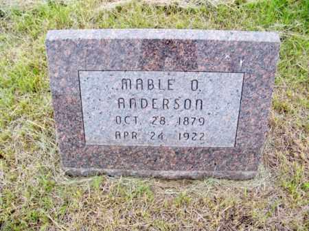 ANDERSON, MABLE O. - Brown County, Nebraska   MABLE O. ANDERSON - Nebraska Gravestone Photos