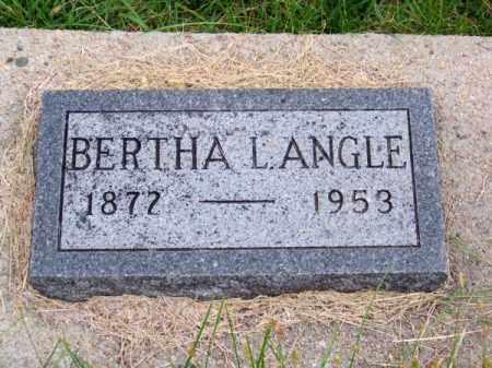 ANGLE, BERTHA L. - Brown County, Nebraska | BERTHA L. ANGLE - Nebraska Gravestone Photos