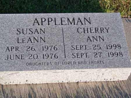 APPLEMAN, SUSAN LEANN - Brown County, Nebraska | SUSAN LEANN APPLEMAN - Nebraska Gravestone Photos
