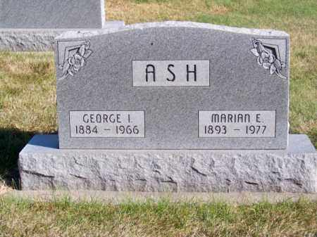 ASH, GEORGE I. - Brown County, Nebraska | GEORGE I. ASH - Nebraska Gravestone Photos