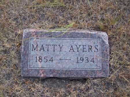 AYERS, MATTY - Brown County, Nebraska | MATTY AYERS - Nebraska Gravestone Photos