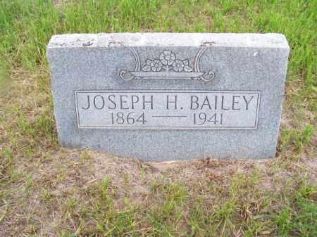 BAILEY, JOSEPH H. - Brown County, Nebraska | JOSEPH H. BAILEY - Nebraska Gravestone Photos