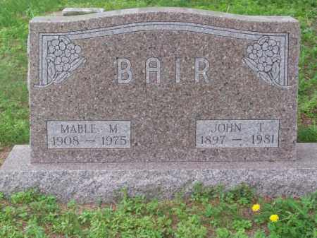 BAIR, JOHN T. - Brown County, Nebraska | JOHN T. BAIR - Nebraska Gravestone Photos