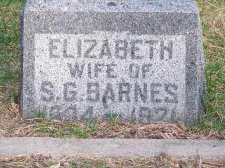 BARNES, ELIZABETH - Brown County, Nebraska   ELIZABETH BARNES - Nebraska Gravestone Photos