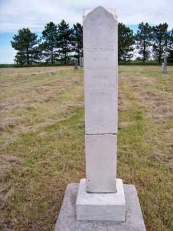 BARR, G. W. - Brown County, Nebraska   G. W. BARR - Nebraska Gravestone Photos