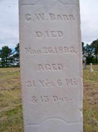 BARR, G. W. - Brown County, Nebraska | G. W. BARR - Nebraska Gravestone Photos